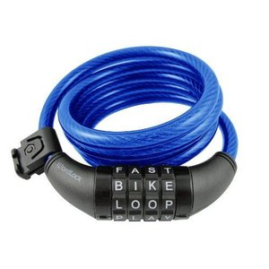 Wordlock CL-409-BL 4-Letter Combination Bike Lock Cable Blue 5-Feet|value-select