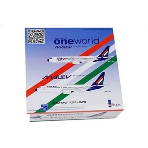 1:200 Inflight 200 IF7380512A ボーイング 737-800 ダイキャスト モデル Malev Hungarian 航空 HA-LOU|value-select