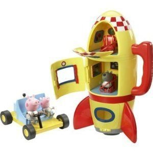 Peppa Pig Deluxe Sound FX Spaceship Explorer Set w...