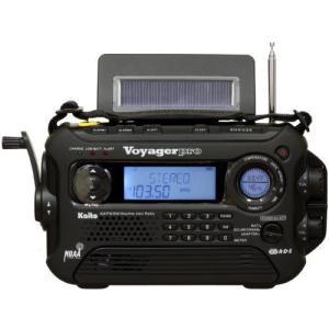 Kaito Voyager Pro KA600 デジタルソーラー発電 AM/FM/短波ラジオ NOAA天気緊急ラジオ Alert& RDS ブラ