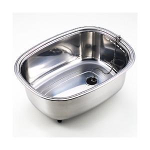 脚付ステンレス洗い桶(中栓付き)|value