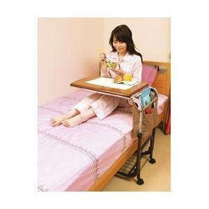 ニューマルチサイドテーブル 布ポケット付(870244) /ベッドテーブル/|value