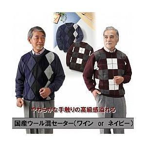 Pierucci 国産紳士ウール混セーター(808790)|value