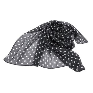 シルクのスカーフ(ドット柄)|value