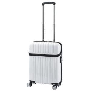 協和 ACTUS(アクタス) 機内持込対応 スーツケース トップオープン トップス Sサイズ ACT-004 ホワイトカーボン・74-20319|value