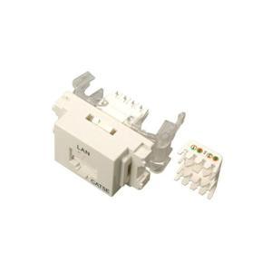サン電子 LANモジュラジャック ツールレスタイプ Cat.5e ホワイト LMJ-5ETLW 10個入|value
