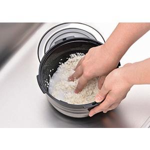 電子レンジ炊飯器 紀州備長炭配合 レンジで一発、ご飯炊き器 すいはんおひつ 3合炊き(KKS-564100)|value|03