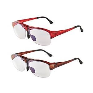 跳ね上げメガネ式拡大鏡1.6倍/メガネ型ルーペ/ value