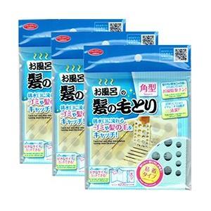お風呂の髪の毛とり 角型 送料コミコミ120枚分(40枚分×3セット)/排水口 ゴミ取り シート/|value