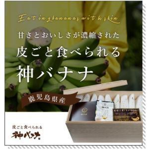 神バナナ 皮ごと食べられる国産無農薬バナナ 10本セット