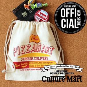 CULTURE MART 巾着袋 ミニポーチ / PIZZAMART|vanda