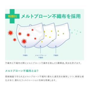 マスク 50枚 使い捨てマスク 3層構造 ウイルス飛沫対策 同梱不可 送料無料対象外|vanda|02