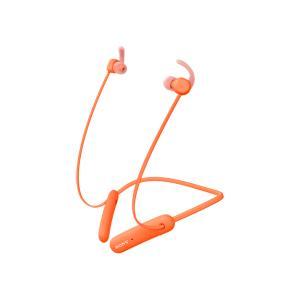 ソニーBluetooth Ver5.0 防水仕様スポーツワイヤレス(オレンジ) vanda