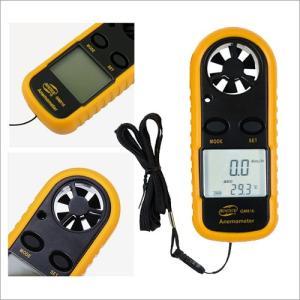 風速計 計測器 温度計 [電池1個付き] 気象メーター 計測器 温度計 小型 気温 工具 計測用具 秒速 最大風速 平均風速 【HIT】 ゆうパケット