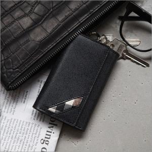 キーケース キーホルダー 本革 メンズ OMNIA Homean cowhide key holder 札入れ付き 天然牛革 おしゃれ 宅配便|vaniastore