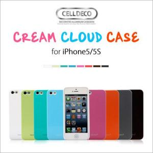 iPhone SE 5s 5 ケース CELLDECO CREAM CLOUD CASE スリム 高級感 アルミニウムボタン&ハンドストラップ付き スクラッチ防止 ゆうパケット|vaniastore