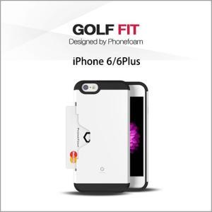 [GOLF FIT for iPhone6/6s iPhone6/6s Plus]ICカード対応 収納ケース TPU素材 ポリカーボネート スタンド機能 DM便発送