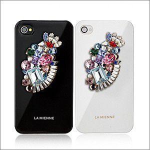 iPhoneSE 5s ケース 手作り  Lamienne Miroir Case iPhone4 iPhone4S スワロフスキークリスタル ケース 宅配便|vaniastore