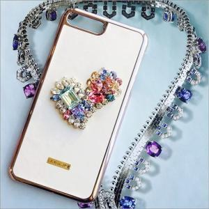 iPhone 8 Plus 7 Plus ケース Lamienne Romentic heart スマホケース レディース スワロフスキー ハンドメイド クリスタル デコレーション 定形外郵便|vaniastore