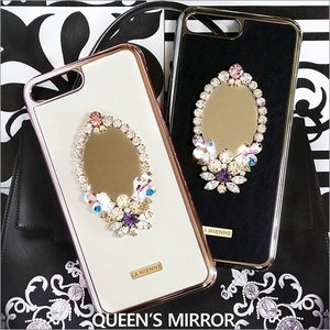 iPhone 8 Plus 7 Plus ケース Lamienne Queen's Mirror スマホケース カバー レディース スワロフスキー ミラー 鏡 手作り 女性 デコレーション 定形外郵便|vaniastore