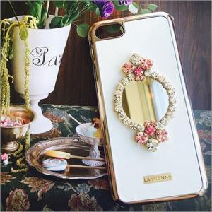 iPhone 8 iPhone 7 ケース LA MIENNE Candy Mirror カバー 鏡 スワロフスキー クリスタル クリスタルキューブ 宅配便|vaniastore