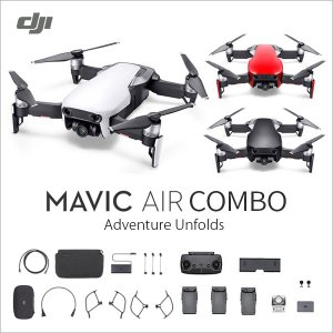DJI MAVIC Air Fly more combo 32GBカード付き ドローン 小型 mavic air コンボ カメラ付き 初年度賠償責任保険付き DJI認定ストア 宅配便|vaniastore