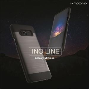 Galaxy S8 / S8 Plus ケース  スマホケース motomo INO LINE アルミ風 ヘアライン シンプル モダン シック カバー ギャラクシー ポリカーボネート ネコポス|vaniastore