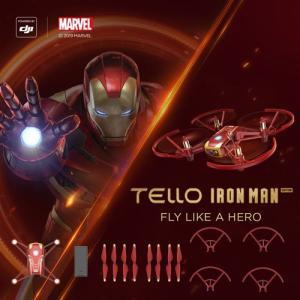 DJI Tello ドローン アイアンマン エディション Iron Man Edition 小型 ラジコン テロ 損害賠償保険付き 子供 プレゼント DJI認定ストア 宅配便|vaniastore