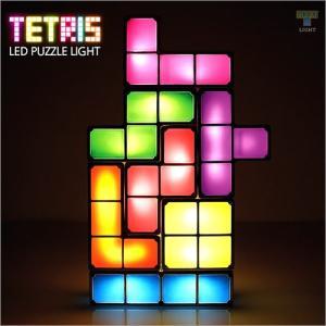 LEDライト テトリスライト 照明 TETRIS LED light TETRIS照明 7色のブロック 組み立て自由 テトリス ブロック USB 照明 宅配便|vaniastore
