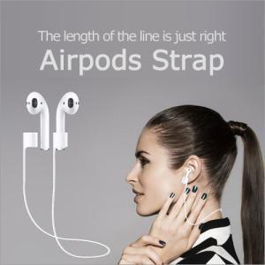 Airpods Strap ネックストラップ イヤーフック Apple 首かけ シリコン製 落下防止 滑り止め スポーツ 通勤 通学 音楽 イヤホン アクセサリー ネコポス|vaniastore