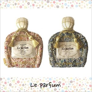 アクセサリーポーチ Le parfum ルパルファン リボン 花柄 かわいい ギフト プレゼント 小物入れ ポーチ ネコポス無料|vaniastore