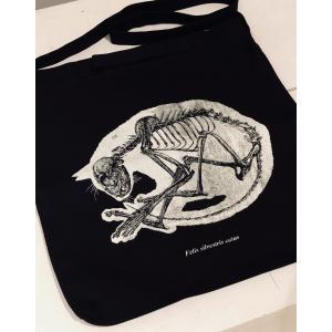 丸まりネコの骨格標本トート|vanilla-gallery
