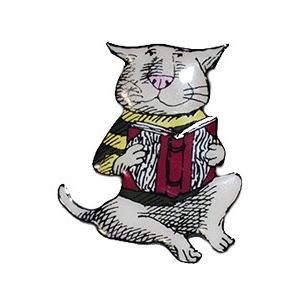 エドワード・ゴーリー/ピンズ(猫&本)|vanilla-gallery