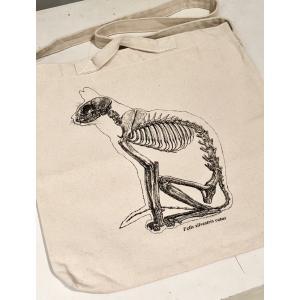 座りネコの骨格標本トート|vanilla-gallery