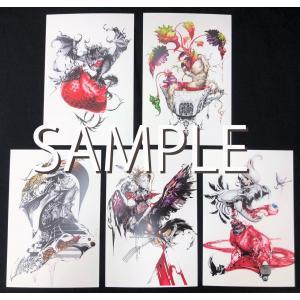 猫将軍ポストカード5種セット(SIREN)|vanilla-gallery