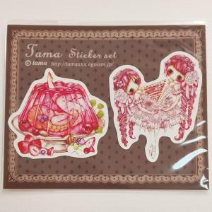 たま Tama/ステッカーセット(ピンク)|vanilla-gallery