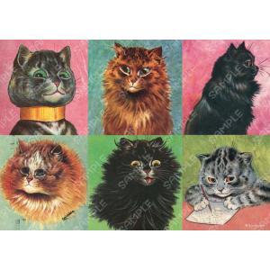 ルイス・ウェイン/ミニポスター(6匹の猫)|vanilla-gallery