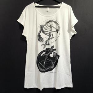 骨格Tシャツ/W丸まり猫(レディース)|vanilla-gallery