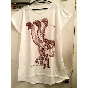 骨格Tシャツ/カマラサウルス(レディース)|vanilla-gallery