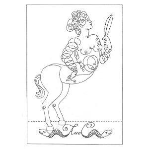 ヴィルジニア・テンティンド「Centauresse m_lancolique(女ケンタウロスの憂鬱)」|vanilla-gallery