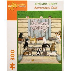 エドワード・ゴーリー ジグソーパズル Seventeen Cats <300ピース> vanilla-gallery