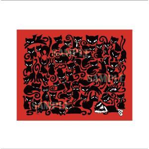 エミリー・ザ・ストレンジ プリント作品『Emily the Strange Catnap Red』★サイン入り★|vanilla-gallery