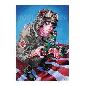 カネオヤサチコ プリント作品「航空隊の男」★受注生産★|vanilla-gallery