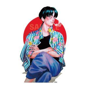 カネオヤサチコ プリント作品「川向うの男」★受注生産★|vanilla-gallery