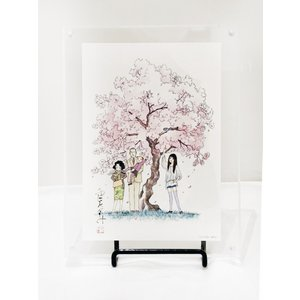 山下和美画業40周年記念展 オリジナルアクリルフレームD(天才 柳沢教授の生活2) vanilla-gallery