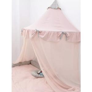 キャノピー ライトピンクL 天蓋 ベッド 半円 お姫様 子供部屋 女の子 花柄 かわいい 可愛い
