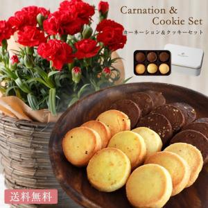母の日に♪焼菓子とお花を カーネーション&クッキーセット ---------------------...