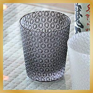 切り子ガラス ブラック(黒)| 焼酎グラス・ロックグラス|vanilladesign