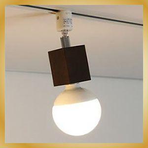 照明 LED おしゃれ SquareWood-spot 電球色 プラグタイプ ブラウン LED カフェ 北欧テイスト|vanilladesign