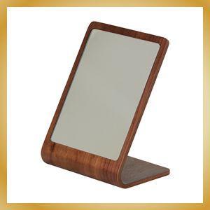 卓上ミラー プライウッド 鏡 カフェ風 北欧 ウォールナット|vanilladesign